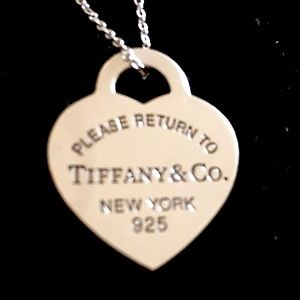 Larger Tiffany & Co. Heart Tag Necklace Authentic